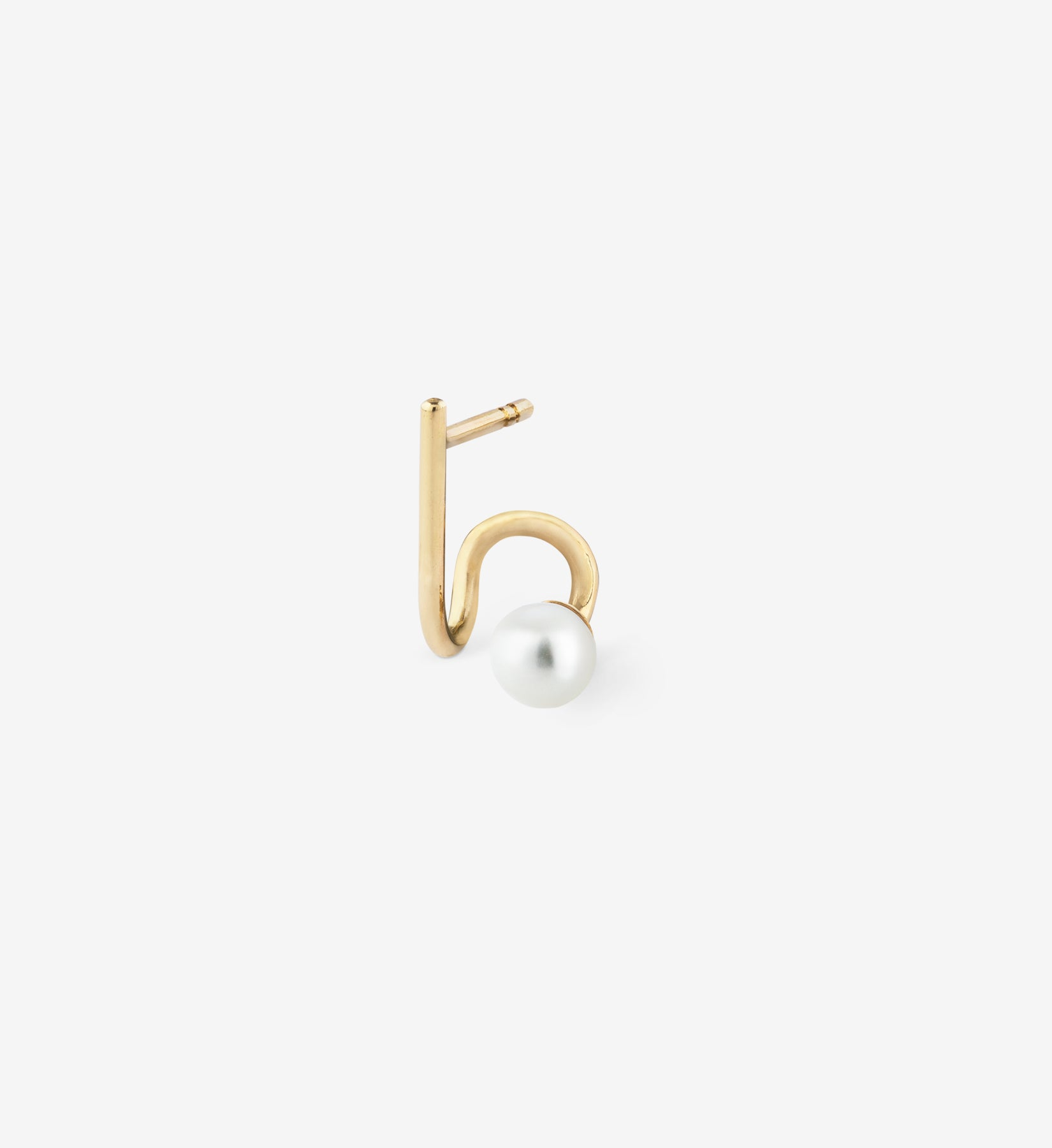 Pearl Spiral Earring 05 - Single