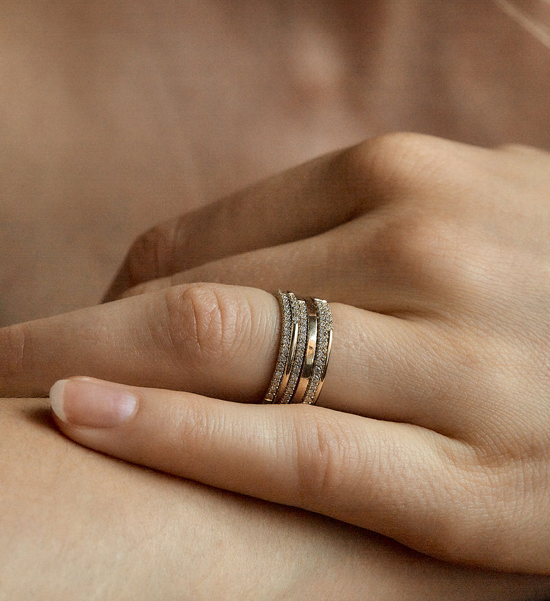 Medium Stacking Ring in 14K Gold