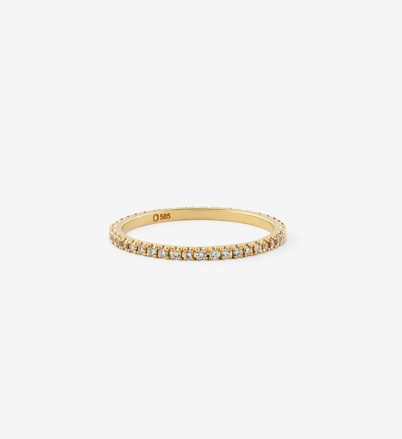 OUVERTURE, Fine jewelry, 14K gold, diamonds, golden ring, diamond ring, golden earring, diamond earring. Handcrafted jewelry. Designed in Berlin. Honestly priced. Demifine. Earparty. Stacking rings.  Diamond Eternity Ring, Eternity ring. Engagement ring. Wedding band. Wedding ring.