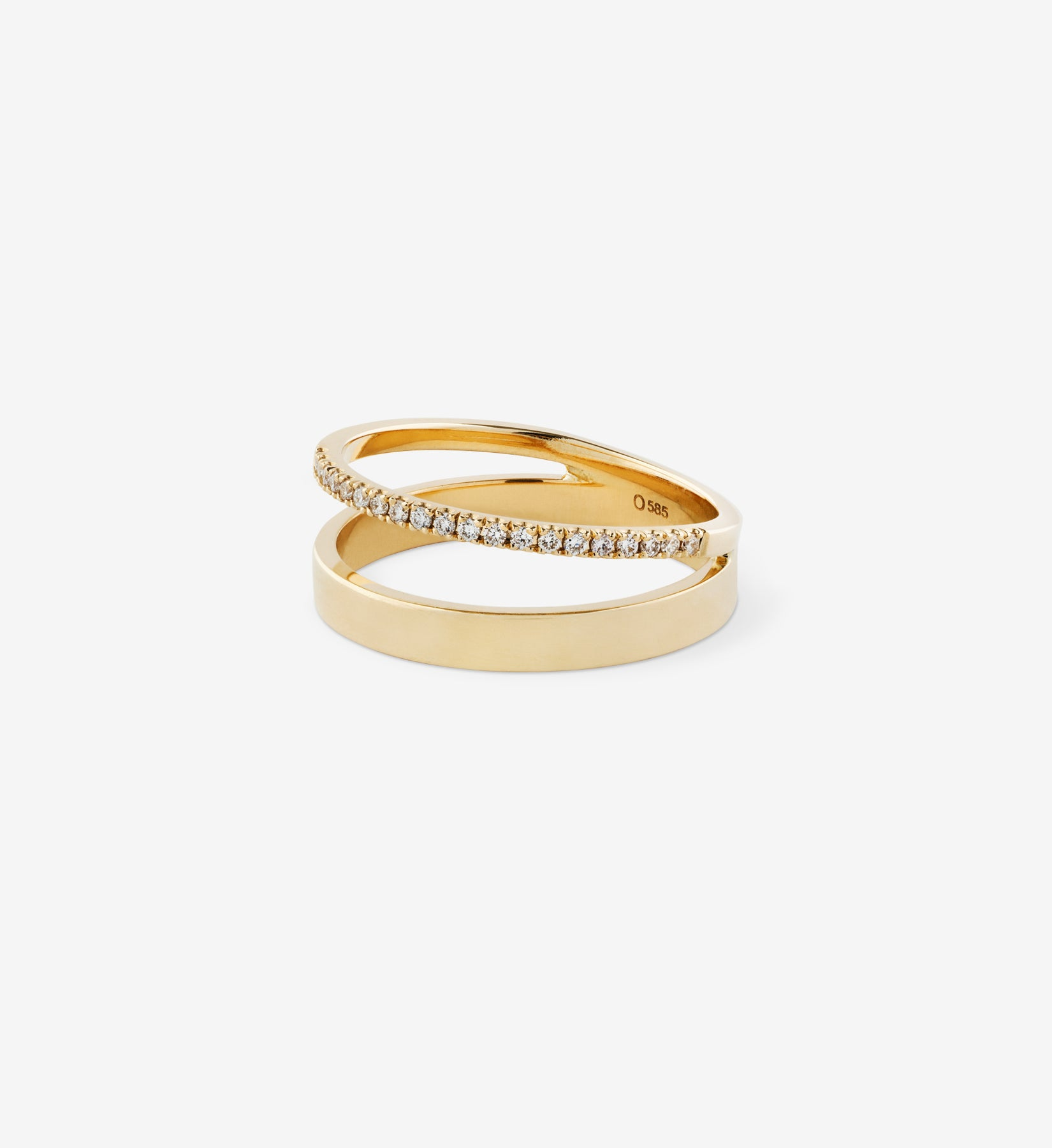 OUVERTURE, Fine jewelry, 14K gold, diamonds, golden ring, diamond ring, golden earring, diamond earring. Handcrafted jewelry. Designed in Berlin. Honestly priced. Demifine. Stacking rings, schmuck, diamant ring, double ring 0.00