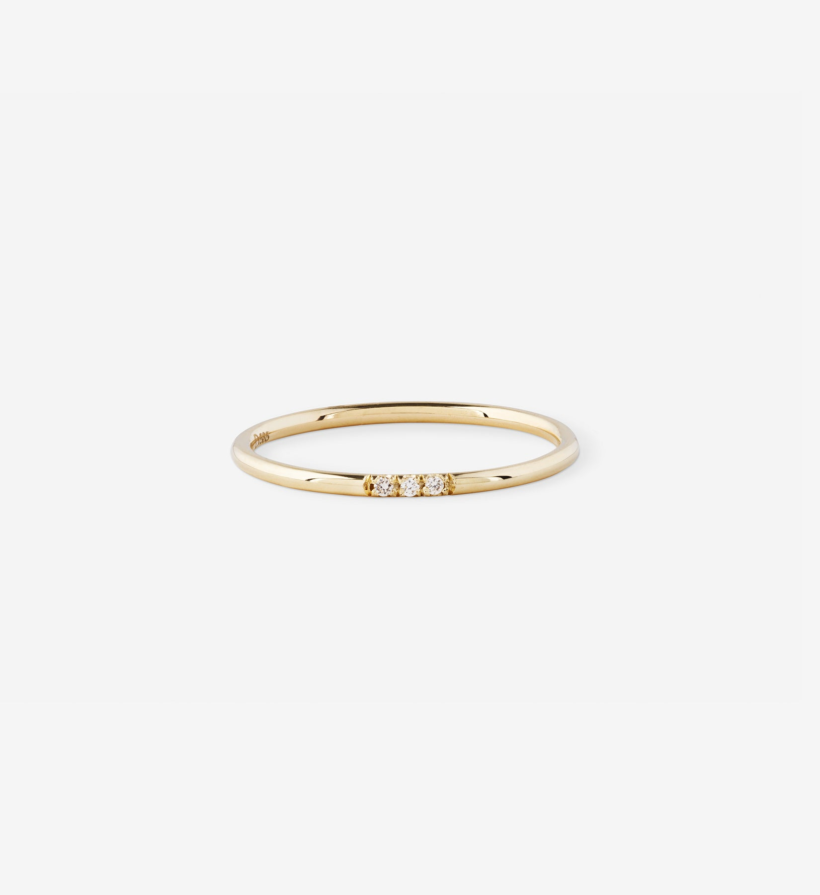 Diamond Line Ring 0.015 in 14K Gold