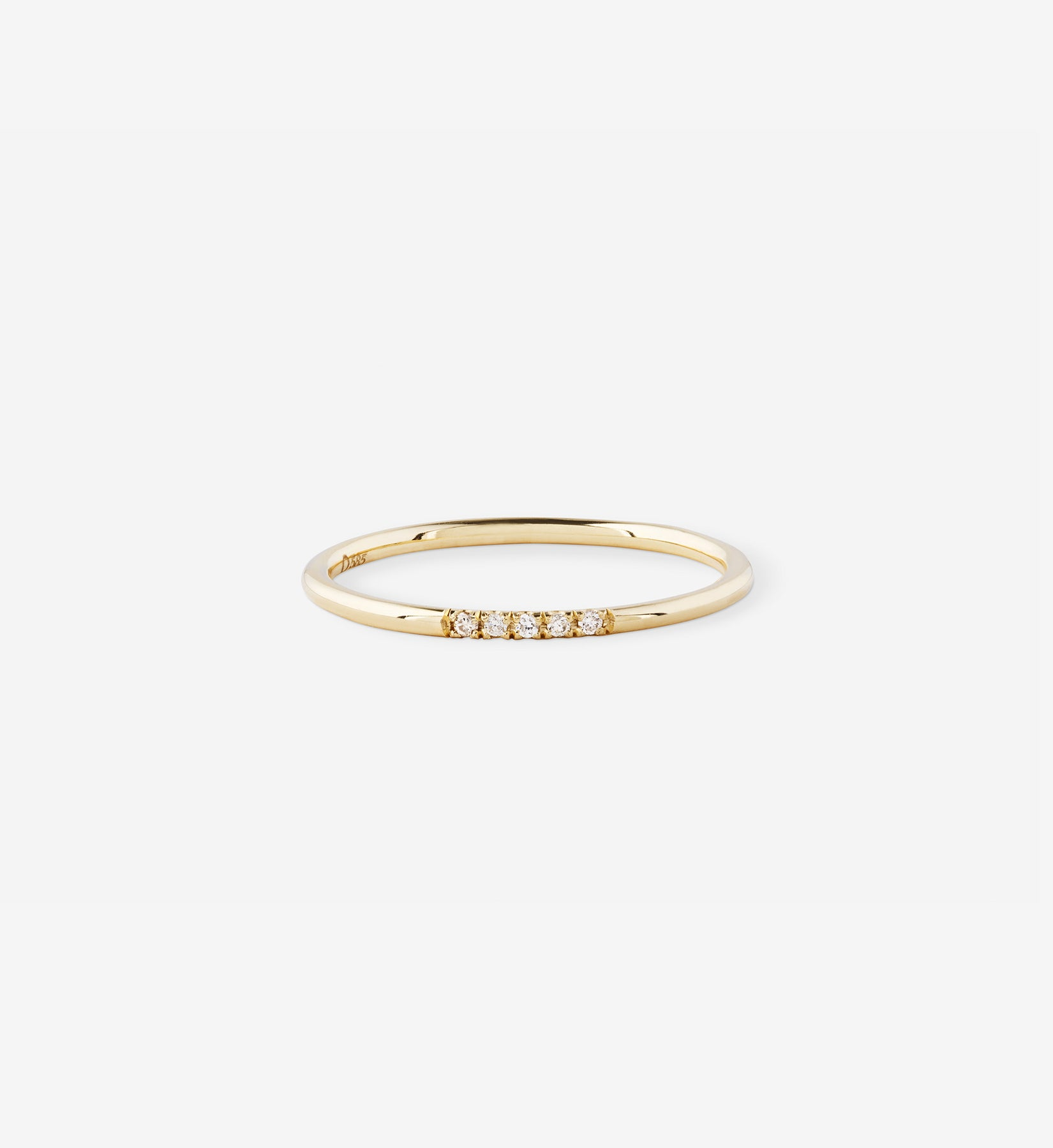 Diamond Line Ring 0.025 in 14K Gold