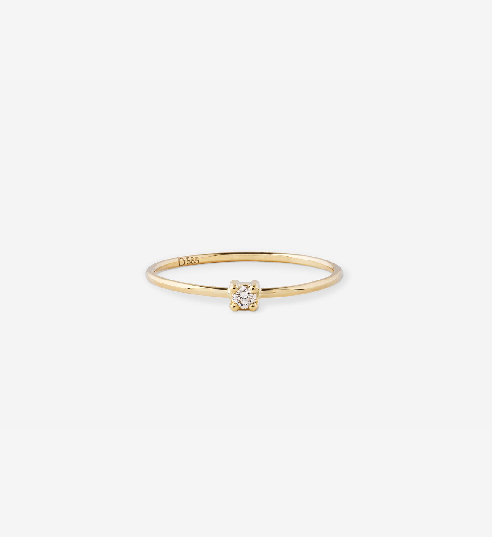 Diamond Ring 0.04 in 14K Gold