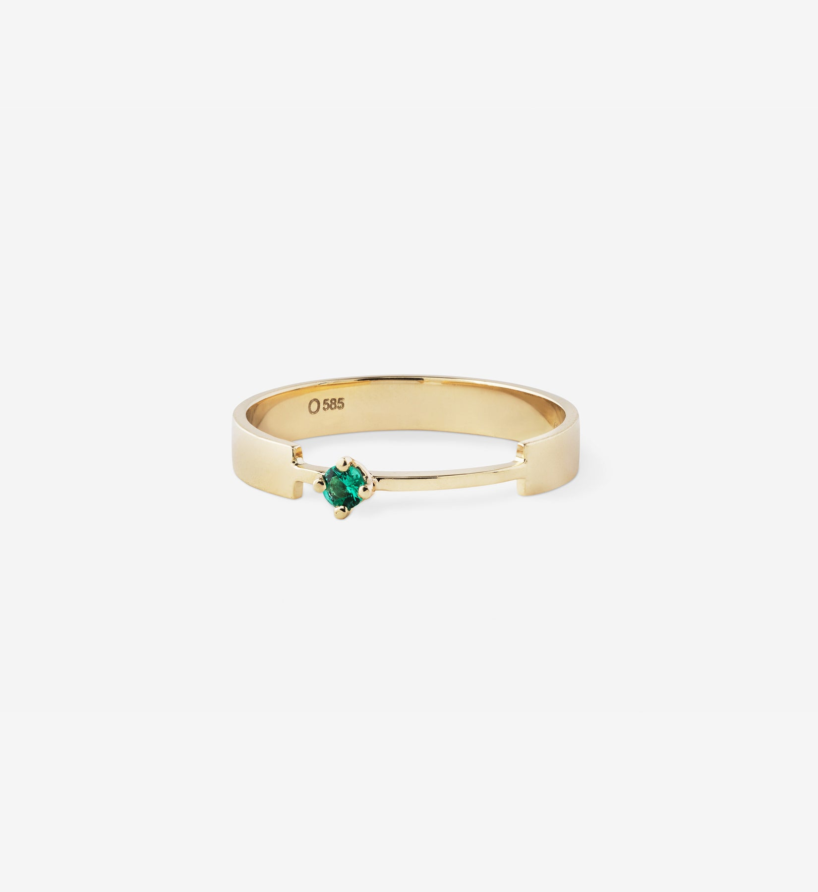 Emerald Ring 0.05 in 14K Gold