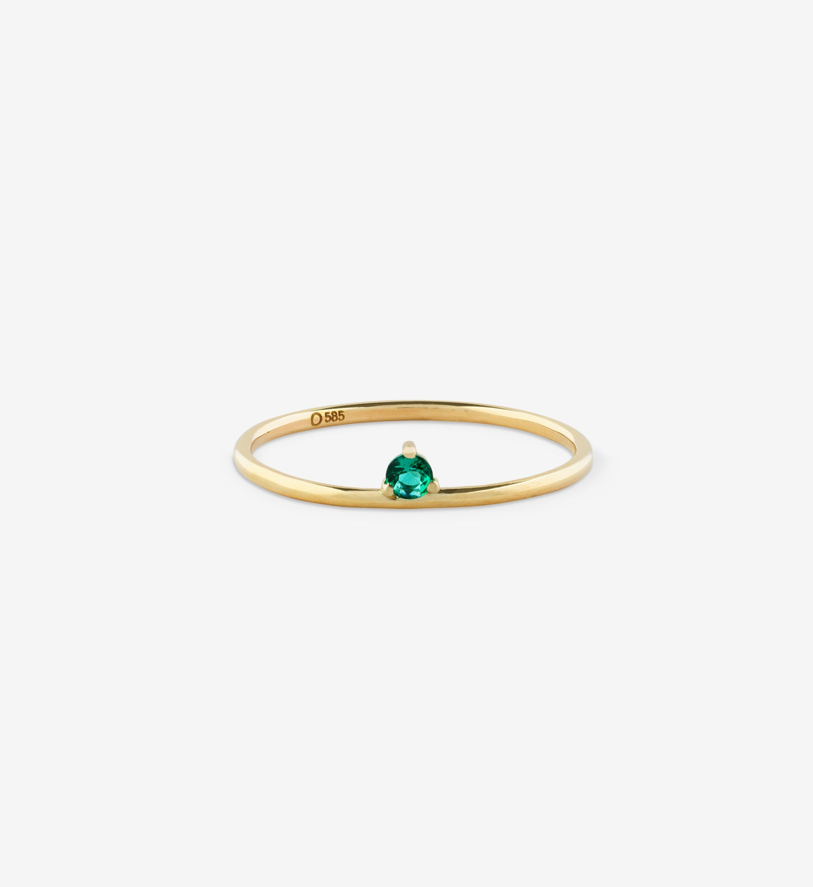 Floating Emerald Ring 0.05