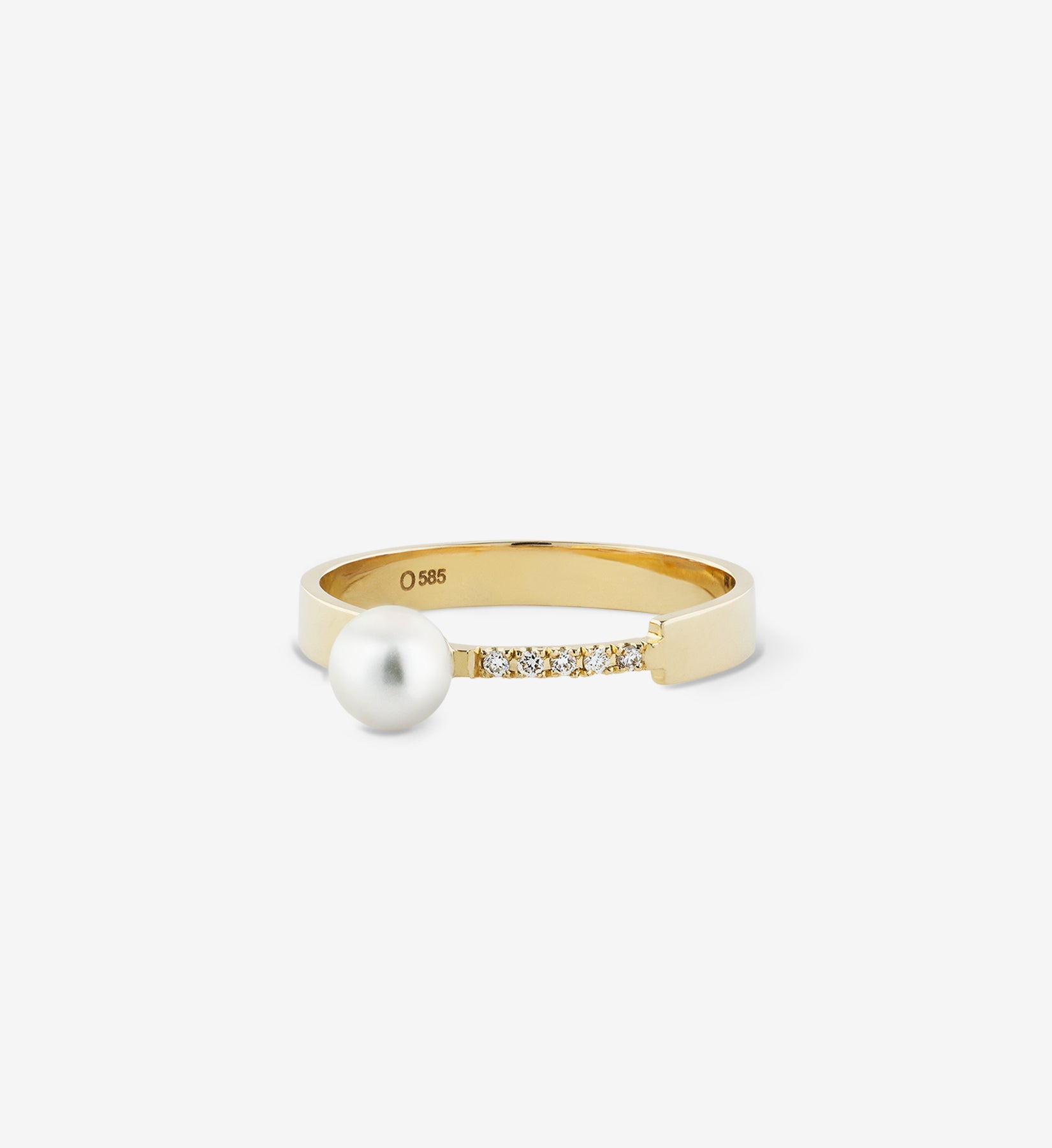 Pearl Diamond Ring 05