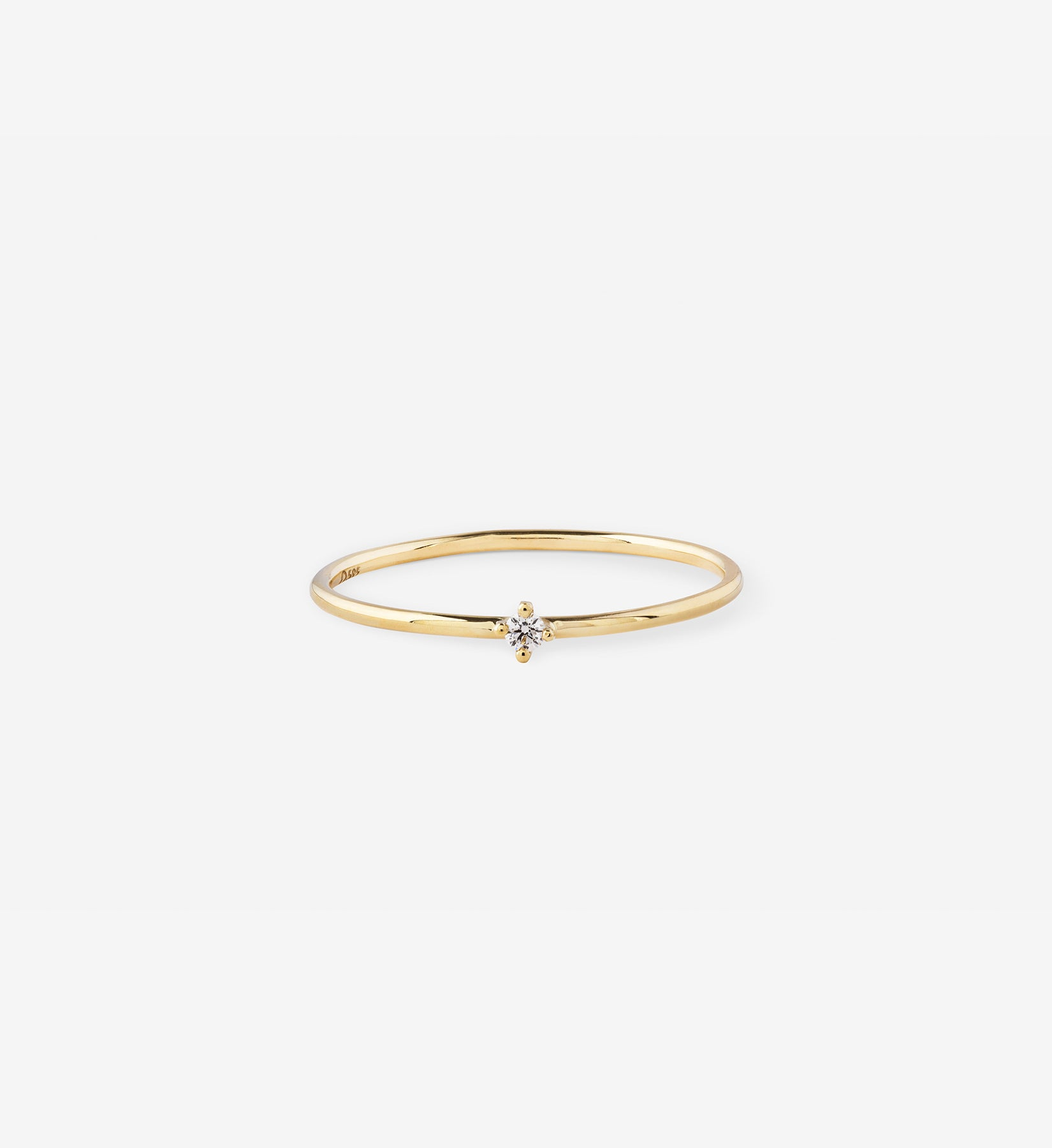 Tiny Diamond Ring 0.02 in 14K Gold