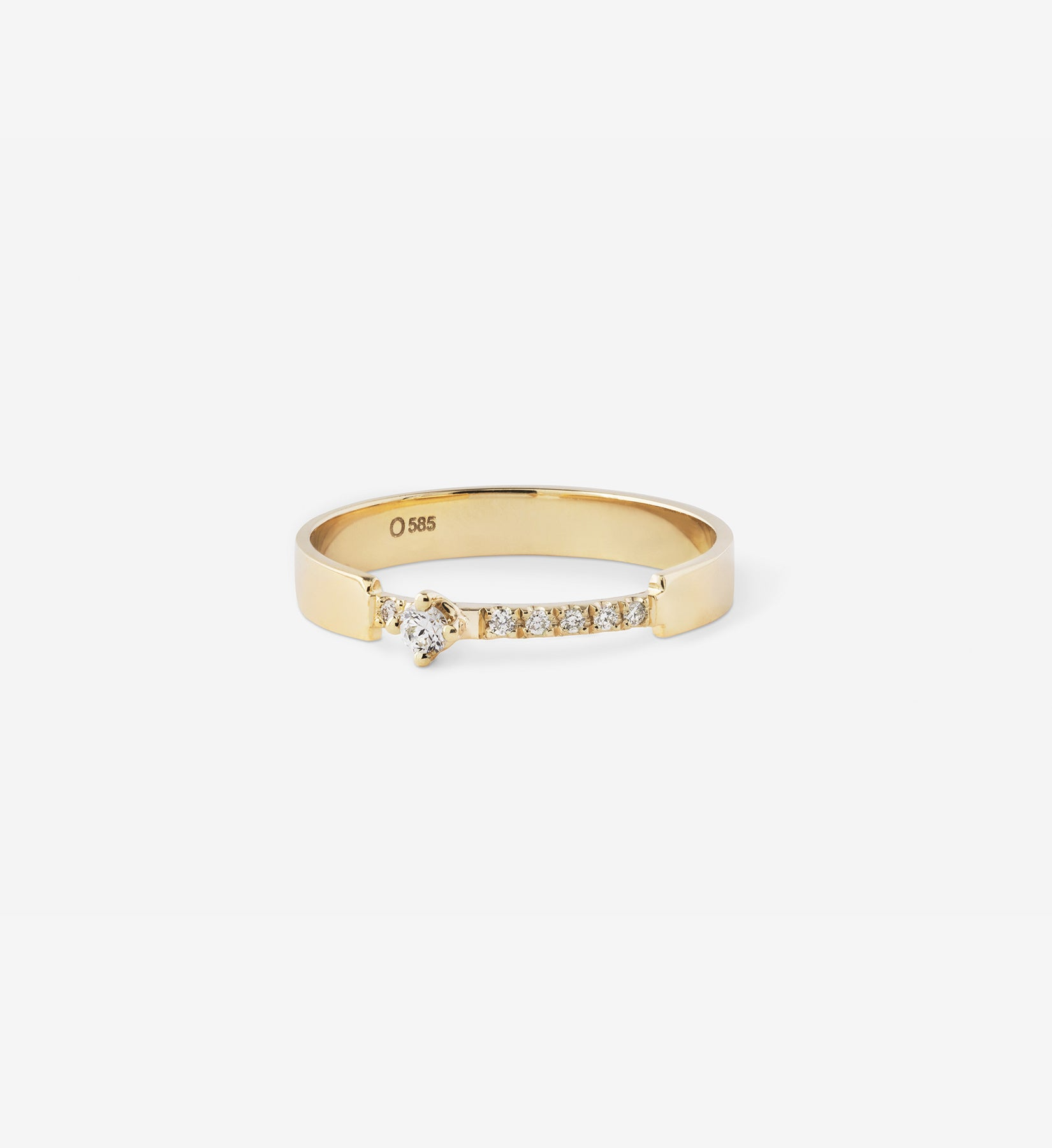 Diamond Ring 0.08 in 14K Gold
