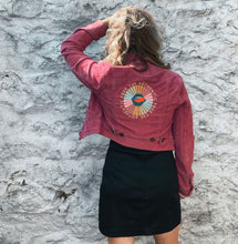 Load image into Gallery viewer, Vintage Levis Magenta Corduroy Cropped Jacket - Love Your Selfie - Size S