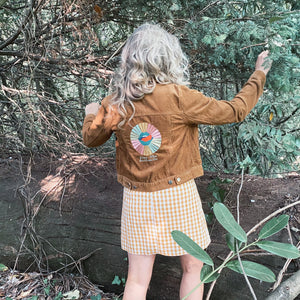 Love Your Selfie Preloved Corduroy Jacket - UK S