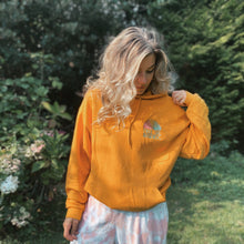 Load image into Gallery viewer, Preloved Mustard Love your Selfie Hoodie - Relax Fit