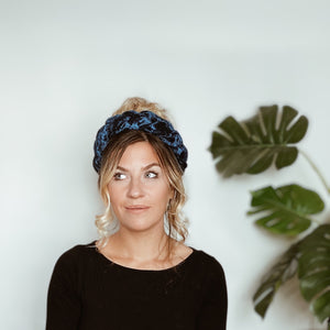 Midnight Velvet Braid Headband