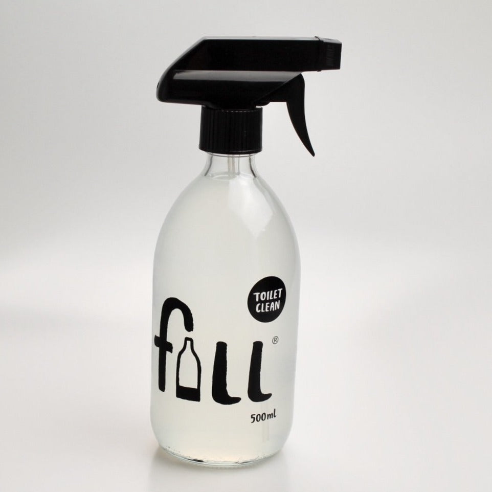 Fill toilet cleaner refill bottle