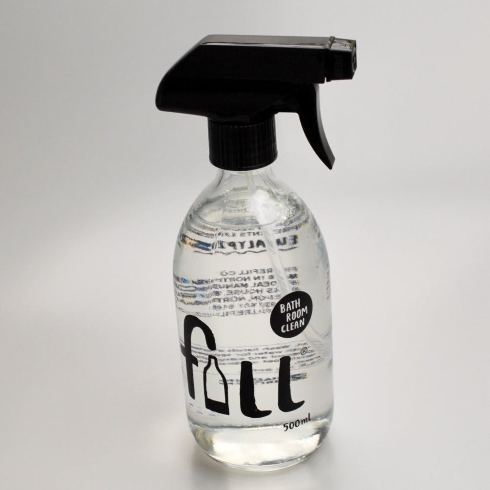 Fill Bathroom cleaner bottle