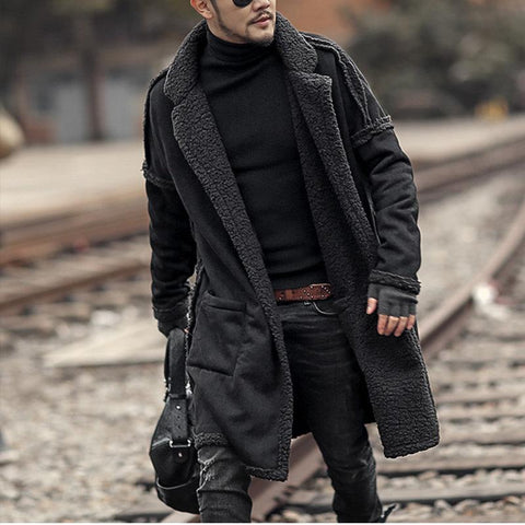 Mid Length Double Side Thicken Fur Warm Wool Coat/Military Uniform Windbreaker