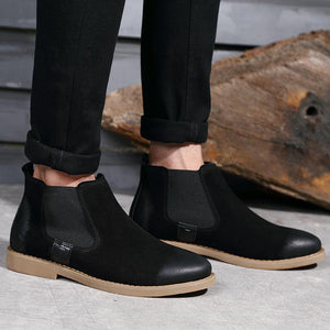 Vintage Casual Leather Chelsea Boots