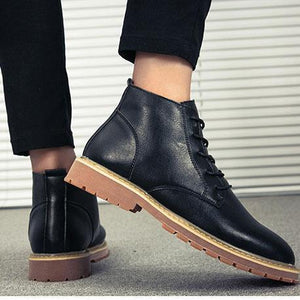 Classic Plain Strappy Business Soft Sole Boots