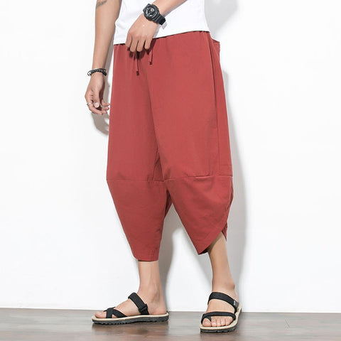 Daily Plain Loose Wide Leg Packets Decorated Pants