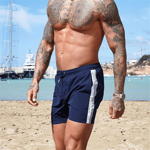 Man's Sports Letter Printed Loose Fast Drying Beach Short Pants