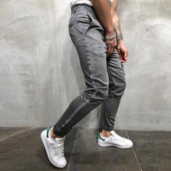 Fashion Stripe Tight Fit Casual Pants