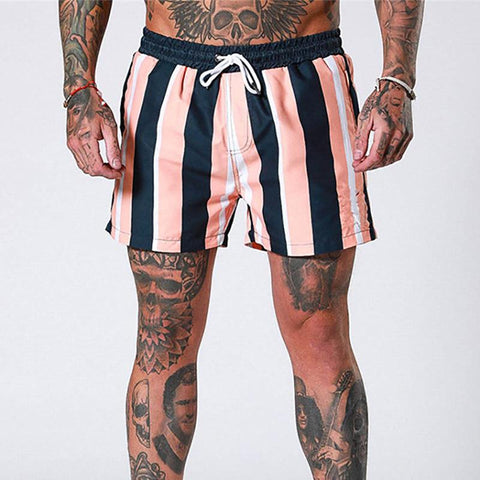 Fashion Contrast Color Stripe Quick Drying Shorts