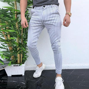 Casual Stripe Thin Section Tight Fit Pants