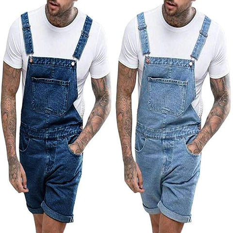 Men's Vintage Casual Denim Tooling Overalls