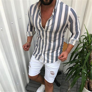 Striped Long-Sleeved Men's Shirt