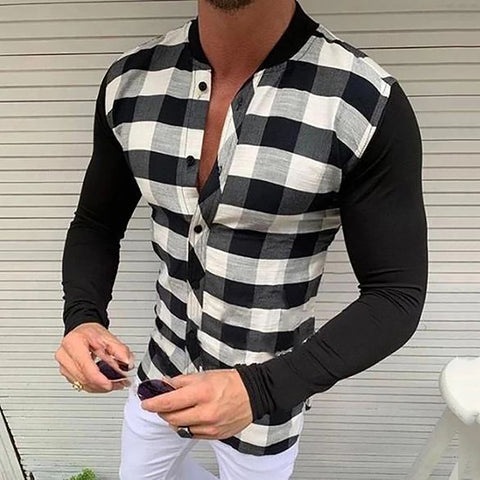 Fashion Slim Fit Plaid Shirt