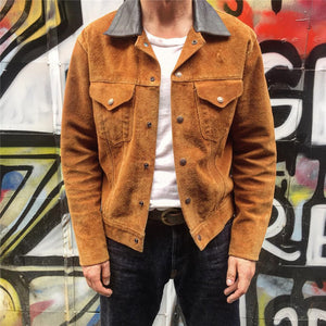 Autumn And Winter Lapel Solid Color Stitching Jacket