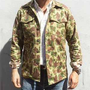 Men's Camouflage Single Breasted Jacket