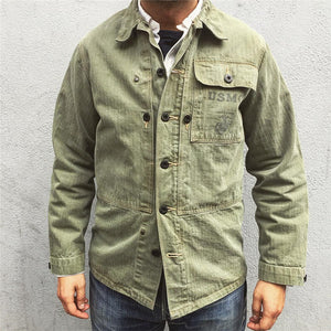 Men's Solid Color Single Breasted Jacket