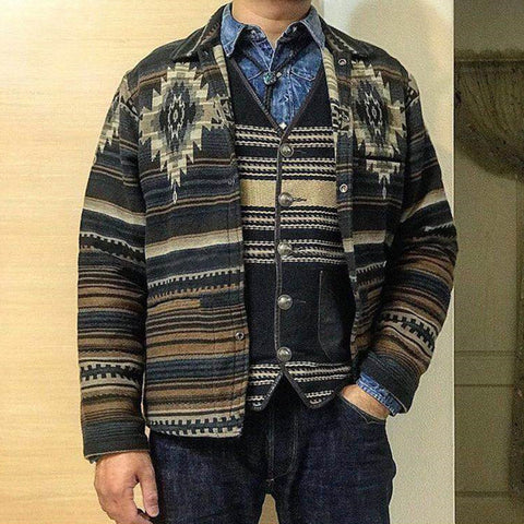 Vintage Printed Long Sleeeve Shirt