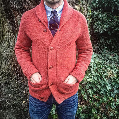 Casual Pure Colour Single-Breasted Sweater Coat