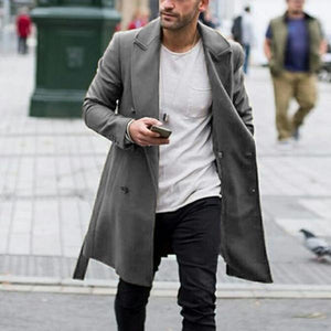 Lapel Double-Breasted Slim Fit Hairy Coat