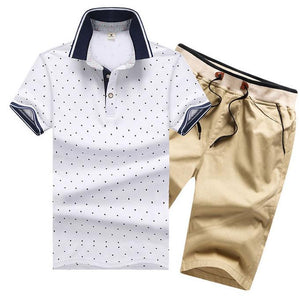 12 Colors Plus Size M-4XL Men Summer Clothing Set New Fashion Casual Male Suits T- Shirt+Shorts Clothes Sets Tracksuits