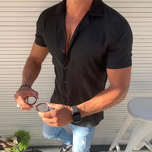 Men's Fashion Casual Short-Sleeved Shirt
