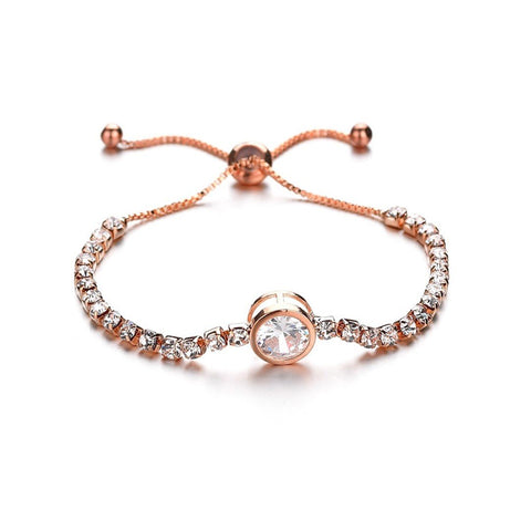 Simple circular zircon bracelets can be   adjusted