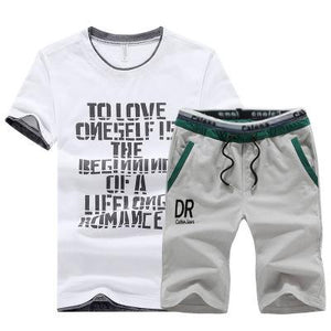 Fashion Sports Summer Street Letter Printing Men's Suits
