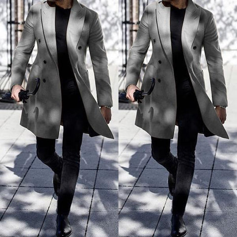 Lapel Solid Color Hairy Slim Fit Coat