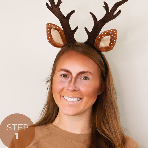 Step 1 and 2 - Quick, Easy DIY Deer Costume