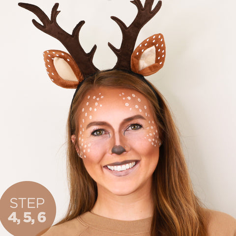 Step 4, 5 and 6 - Quick, Easy DIY Deer Costume