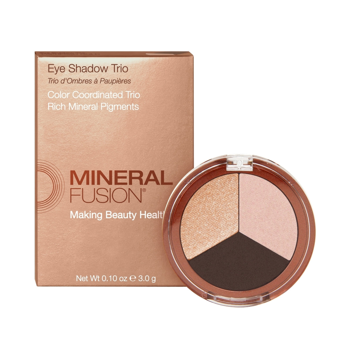 Mineral Fusion Eye Shadow Trio in Espresso Gold