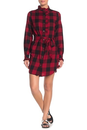 Flannel Check Dress