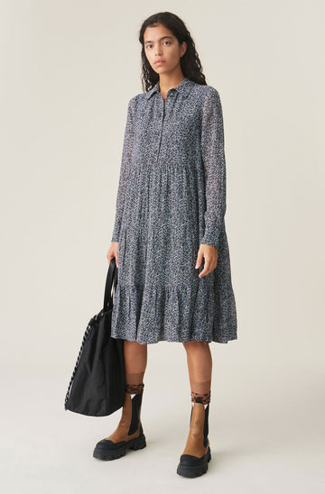 Printed Georgette Layer Dress
