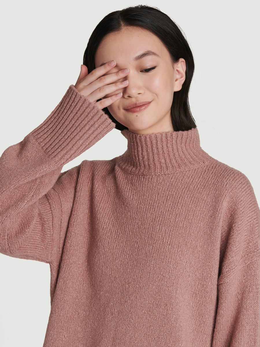 Side Slit Turtleneck
