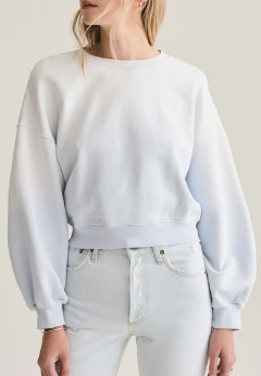 Faded Balloon Sleeve Sweatshirt