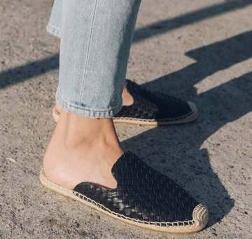 Woven Leather Espadrille