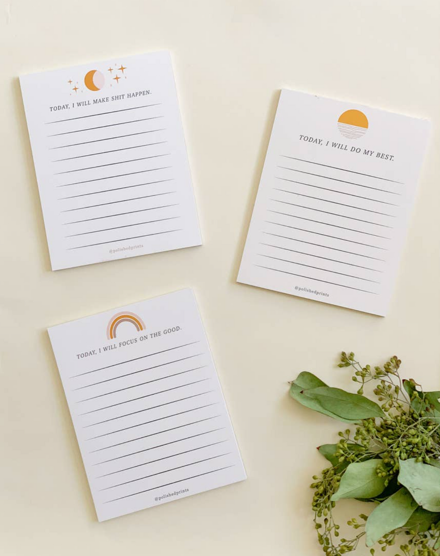 Affirmation Notepad Set