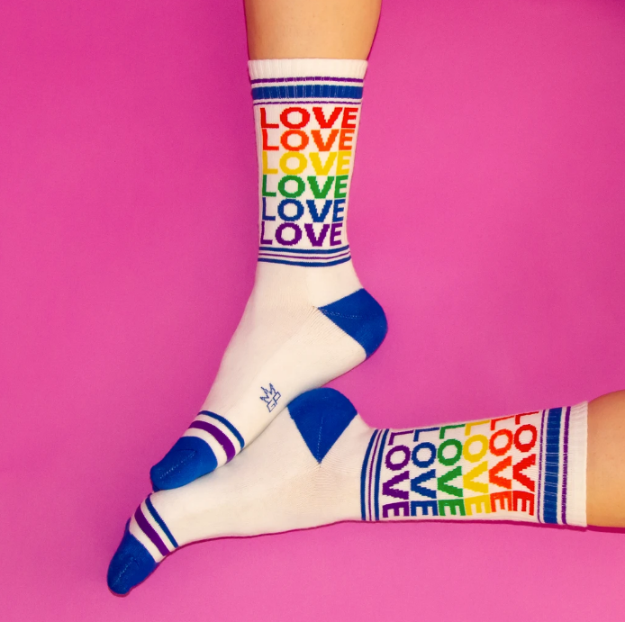 Rainbow Love Gym Sock